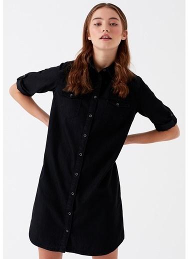 Mavi Jean Elbise | Bree - Normal Kesim Siyah